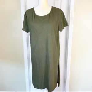 Zara Olive Green Short Sleeve Tunic Tee Size M